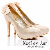 ★零碼出清★Keeley Ann  浪漫新娘 ~  後緞帶蝴蝶結金蔥高跟鞋(亮粉) 【ANGEL系列】