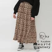 ❖ Autumn ❖ 豹紋圖案雪紡百摺裙 - E hyphen world gallery