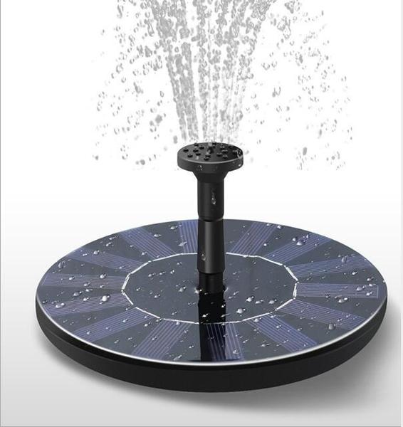 太陽能漂浮噴泉低壓直流無刷水泵庭院微型噴水器假山景觀戶外水池