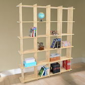 【LIFECODE】極簡風黃松木正二十格架/實木置物架/書架/花架