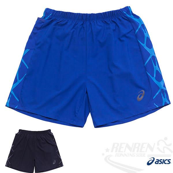 ASICS亞瑟士 男慢跑短褲(藍)
