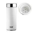 SMF雙層真空骨瓷保溫杯 340ml (鮮乳白) 鋅時代濾茶款 #B2334TZ