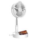 電風扇usb充電立式台式落地兩用噴霧家用小型靜音小電扇 【全館免運】