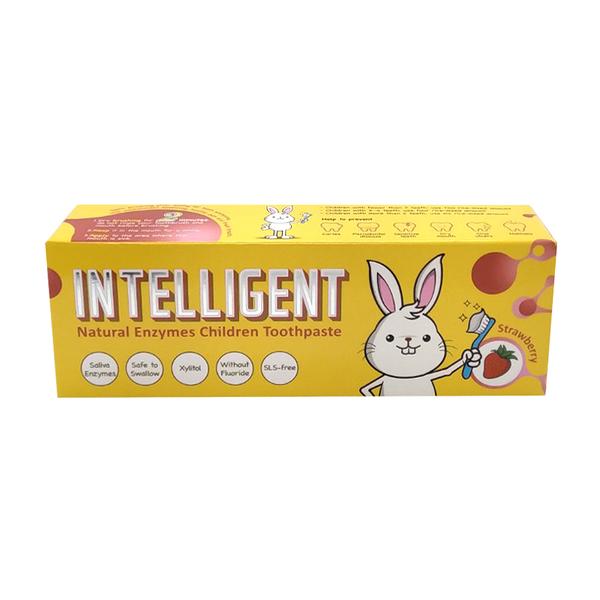 Intelligent因特力淨兒童草莓酵素牙膏 40g[衛立兒生活館]