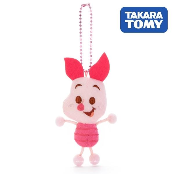日本限定 迪士尼 小熊維尼家族 粉紅小豬 TOY COMPANY 擦擦珠鍊吊飾 / 珠鍊玩偶