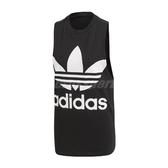 adidas 背心 Trefoil Tank Top 黑 白 女款 三葉草 大Logo 【ACS】 CE5578