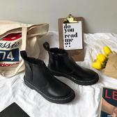 韓國馬丁靴女鞋機車靴百搭街拍側拉鏈ins短靴    米希美衣