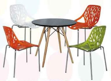 【南洋風休閒傢俱】樹狀椅+圓/方/玻璃圓/筷子腳桌 洽談桌椅 餐椅 休閒椅 (554-5)