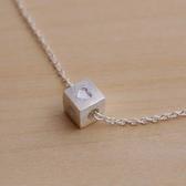 項鍊 925純銀 吊墜子-心形方格生日情人節禮物女飾品73as43【時尚巴黎】