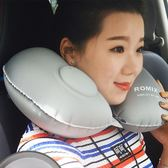 按壓式充氣枕頭U型枕旅行長途飛機午休睡枕護頸椎便攜脖子腰靠枕   mandyc衣間