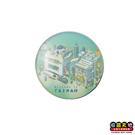 【收藏天地】台灣紀念品*水晶玻璃球冰箱貼-台灣