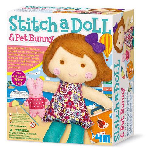 《4M美勞創作》旅遊女孩 Stitch a doll - Go Traveling / JOYBUS玩具百貨