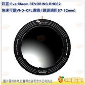彩宣 EverChrom REVORING RNC82 快速可調 VND + CP L濾鏡 鏡頭 67-82mm 公司貨
