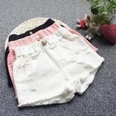 女童牛仔短褲 女童牛仔短褲新款夏兒童寶寶白色寬鬆洋氣褲子中大童外穿百搭-Ballet朵朵