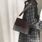 復古公文包包女2020新款潮腋下包百搭ins斜背小方包大容量側背包 黛尼時尚精品
