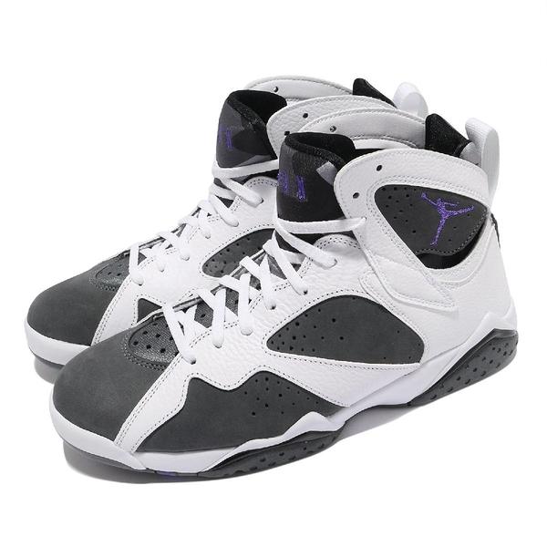 Nike 休閒鞋 Air Jordan 7 Retro Flint 白 灰 紫 男鞋 AJ7 喬丹 喬登【ACS】 CU9307-100