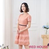 【RED HOUSE 蕾赫斯】蕾絲蝴蝶結洋裝