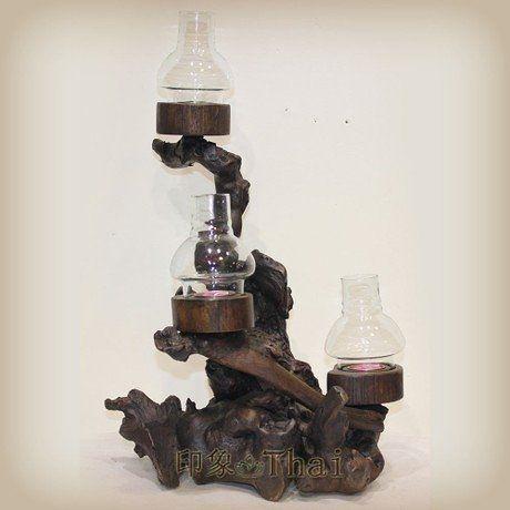 木雕燭台裝飾品擺件