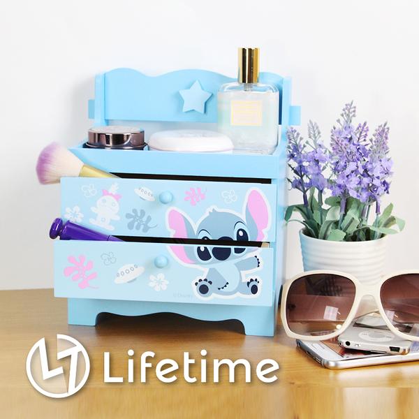 ﹝史迪奇椅子造型二抽盒﹞正版二層收納盒 置物盒 迪士尼〖LifeTime一生流行館〗B01190