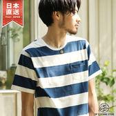 短T 橫條紋上衣 圓領短袖T恤 共20色 S-M