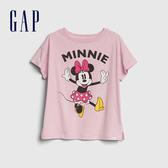 Gap女童Gap x Disney 迪士尼系列米妮短袖T恤551231-石英粉
