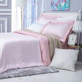 (組)雅緻天絲素色特大床被組輕粉
