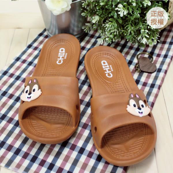 正版迪士尼 奇奇轉轉Q頭室內拖鞋23.5~28.5CM/塑膠拖鞋[蕾寶]