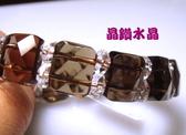 『晶鑽水晶』茶晶手鍊~鑽石切角度手排*AA級超亮眼!生日禮物/母親節禮物附禮盒*免運費