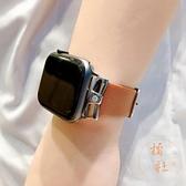 apple watch錶帶真皮水鉆金屬扣iwatch1/2/3代【橘社小鎮】