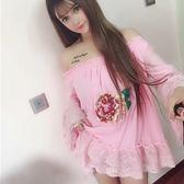 小個子連身裙寬鬆甜美公主洋裝雪紡裙短裙女