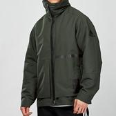Adidas ID 男款 軍綠色 內刷毛 立領 可收納式帽 風衣 長袖 外套 FJ0258