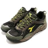DIADORA 越野慢跑鞋 黑 綠 防潑水越野跑鞋 輕量舒適 戶外 運動鞋 男鞋【PUMP306】 DA7AMO5605