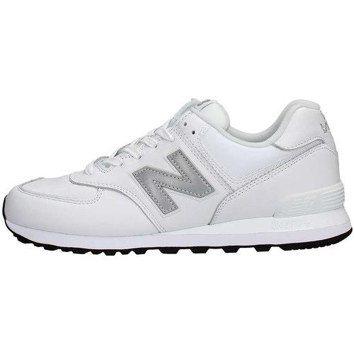 NEW BALANCE 白色基本款 中性款 運動慢跑鞋 NO.ML574LPW