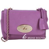 MULBERRY Lily 山羊皮經典鍊帶肩背包(紫色) 1310330-04