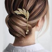 盤髮神器金屬流蘇髮簪丸子頭盤髮器頭飾女珍珠髮夾后腦勺髮卡簪子 小天使 618