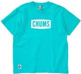CHUMS Logo T-Shirt 女 短袖T恤 藍綠 CH111324T014【GO WILD】