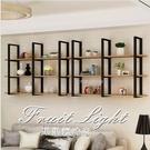 壁掛置物架牆上書架花架裝飾架隔板餐廳懸掛酒架吧台吊架 果果輕時尚NMS