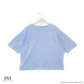 【INI】注目率性、立體特殊剪裁文青感上衣.水藍色