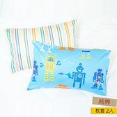 HOLA 機器任務防螨抗菌純棉枕套2入