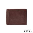 FOSSIL INGRAM 真皮RFID男夾-咖啡色 ML3781200
