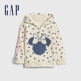 Gap嬰兒 Gap x Disney 迪士尼系列米妮活力點點印花連帽外套 543701-象牙白