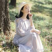 韓國夏季雪紡洋裝少女學生露肩仙女裙學院風初戀長裙 港仔會社