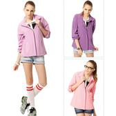【SAMLIX 山力士】女 抗UV輕薄外套(#WJ623深紫色.淺紫色.粉橘色)