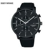 三宅一生ISSEY MIYAKE C系列 NYAD007Y 雅痞中性黑框三眼鋼帶錶x42mm 公司貨|名人鐘錶高雄門市