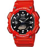 CASIO 卡西歐 太陽能電力雙顯錶-紅 AQ-S810WC-4AVDF / AQ-S810WC-4A