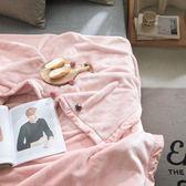 粉色法蘭絨毯子沙發蓋毯辦公室午休毯珊瑚絨小毛毯秋冬季加厚保暖