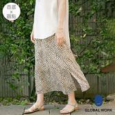 GLOBAL WORK女滿版印花圓點傘狀口袋半身裙長裙-四色