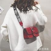 斜背包上新森繫小包包女新款潮韓版百搭時尚ins超火寬帶斜背包麥吉良品