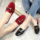 包頭拖鞋 包頭無後跟半拖鞋女夏懶人平底外穿時尚休閒穆勒鞋涼拖潮新年禮物