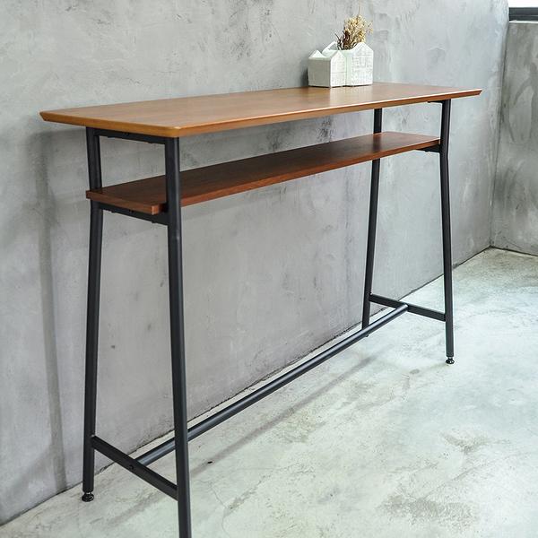 吧台桌/日式吧台桌(木) 120cm雙層/胡桃木色 (不含椅) MIT台灣製【51578】Tasteful 特斯屋